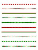 Christmas Border / divider Royalty Free Stock Photography