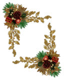 Christmas border elegant pinecone stock image