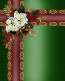 Christmas Border elegant ribbons Stock Photos