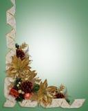 Christmas border elegant ribbons stock images