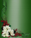 Christmas Border Flowers and ribbons Royalty Free Stock Photo
