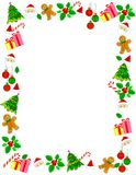 Christmas border / frame. Colorful christmas frame with x mas icons royalty free illustration