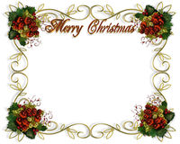 Christmas border frame 3D text. Image and illustration composition for Christmas card, invitation, template, Border or frame with copy space stock illustration