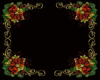 Christmas border frame on black Royalty Free Stock Photos