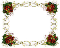 Christmas border frame elegant. Image and illustration composition for Christmas card, invitation, template, Border or frame with copy space vector illustration