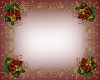 Christmas Border frame gold Stock Photography