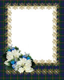 Christmas Border Frame plaid Stock Photo