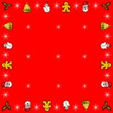 Christmas border frame Stock Photos
