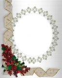 Christmas Border frame ribbons stock illustration