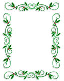 Christmas Border Frame Simple. Illustrated Background, border or frame for Christmas holiday with copy space vector illustration