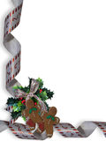 Christmas Border Gingerbread Man  Stock Images