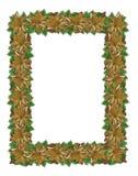 Christmas border gold royalty free stock photography