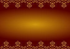 Christmas border gold Royalty Free Stock Photography