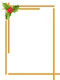 Christmas border / Golden rods. Christmas border with barries, leaves & goiden rods vector illustration