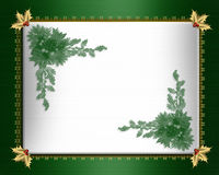 Christmas border green satin Royalty Free Stock Images