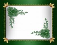 Christmas border green satin royalty free stock images