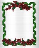 Christmas Border holly stock image