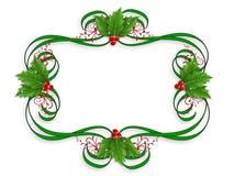Christmas Border holly royalty free stock photos