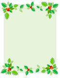 Christmas Border / Holly Royalty Free Stock Photography
