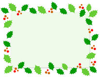 Christmas Border / Holly stock image