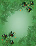 Christmas Border holly abstract leaves Stock Image