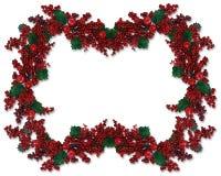 Christmas Border Holly Berry  Royalty Free Stock Photo