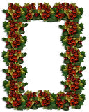 Christmas Border Holly ornaments Royalty Free Stock Images