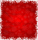 Christmas Border Made in Snowflakes Stock Images