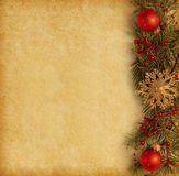 Christmas border. On old paper stock images