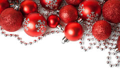 Christmas border with ornament Stock Photos