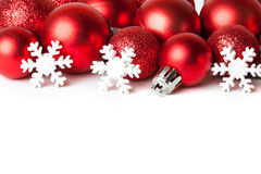 Christmas border with ornament Stock Photography