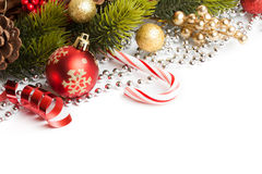 Christmas border with ornament Royalty Free Stock Image