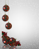 Christmas Border ornaments Royalty Free Stock Images