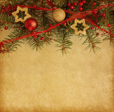 Christmas border on  paper Stock Image