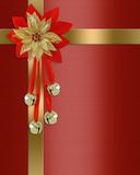 Christmas border red present Stock Photography