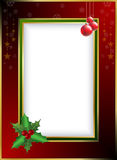 Christmas border. Christmas related gold and red border illustration Royalty Free Stock Photos