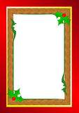 Christmas border. Christmas related gold and red border illustration Royalty Free Stock Photo