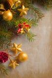 Christmas border with retro texture Stock Photography