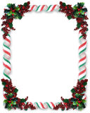 Christmas Border Ribbon Candy Stock Image