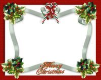 Christmas border ribbons Royalty Free Stock Photos