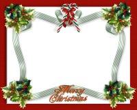 Christmas border ribbons royalty free stock photos