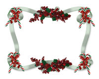Christmas border ribbons Royalty Free Stock Images