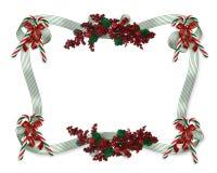 Christmas border ribbons royalty free stock images