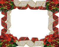 Christmas Border Ribbons. Image and illustration composition for Christmas Border or frame with ribbons, ornaments and copy space Stock Image