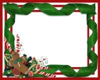 Christmas Border Ribbons And Treats Stock Image