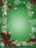 Christmas border ribbons elegant holly royalty free stock image