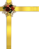 Christmas Border Ribbons gold Royalty Free Stock Photography