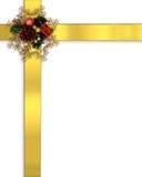 Christmas Border Ribbons gold Royalty Free Stock Photography