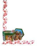 Christmas Border Ribbons ornaments Royalty Free Stock Image
