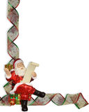 Christmas border ribbons sants Stock Image